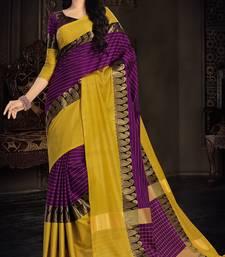 Buy Magenta plain silk saree with blouse south-indian-saree online