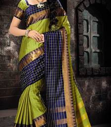 Buy Blue printed silk saree with blouse south-indian-saree online