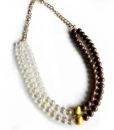 Buy Brown crystal necklaces Necklace online