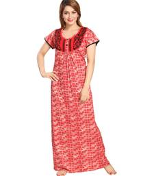 Buy Red  Cotton Full Length Maxi For Women's maxi-dress online