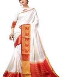 Buy Multicolor printed silk saree with blouse silk-saree online