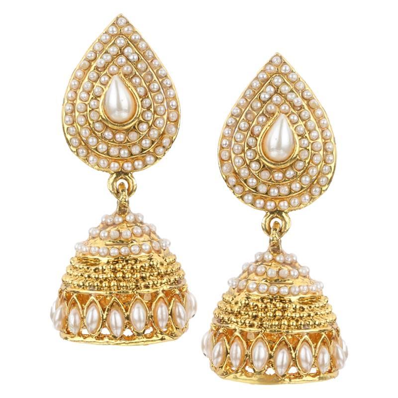 Buy jhumki wedding white metal alloy jhumka earring for