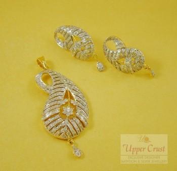 Paisley Pendent Earring Jewellery Set