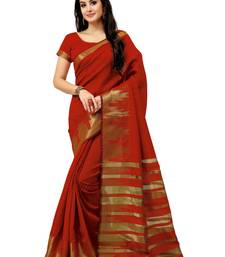 Buy Red Printed Silk saree with blouse printed-saree online