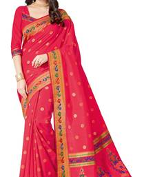 Buy Red printed patola saree with blouse patola-sari online
