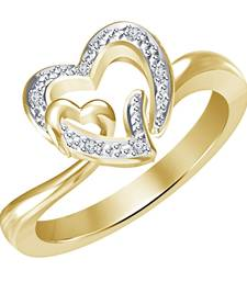 Buy 925 Sterling Silver 14k Gold Plated Double Heart Love Promise Ring Ring online