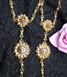 Buy Traditional Golden Hath Panja For Women Jewellery Be the first to review this item haath-phool-hath-panja online