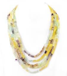 Buy Multicolor Fluorite Gem stone Necklace gemstone-necklace online