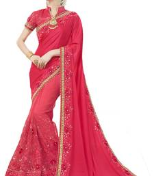 Buy Pink woven silk blend saree with blouse south-indian-saree online
