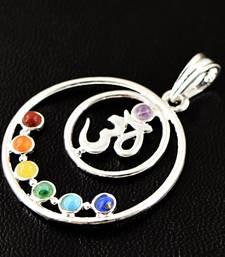 Buy Seven Chakra Om Pendant gemstone-pendant online