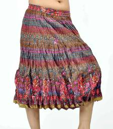 Buy Rajasthani multicolor Color Pure Cotton Short Skirt skirt online