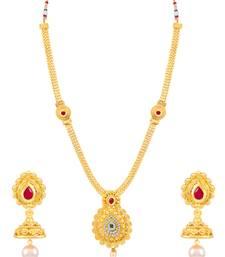Buy Sukkhi Traditional Jalebi Gold Plated Necklace Set for women necklace-set online