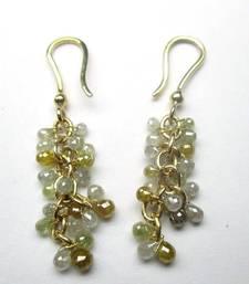 Buy 9.50Cts Beautiful Multi Color Diamond Briolette Earring 3.370g Solid 14K Gold gemstone-earring online