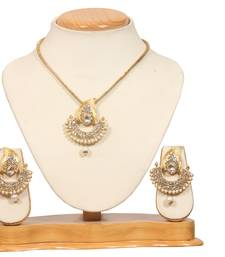 Buy Gold pearl necklace-sets necklace-set online