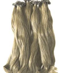 Buy Keratin Pre-bonded Flat Tips (F) Remy Bleached Human Hair 18 inches Colour no. 60 hair-extension online