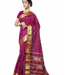 Buy Purple woven patola saree with blouse patola-sari online