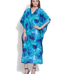 Buy Blue cotton printed kaftan kaftan online