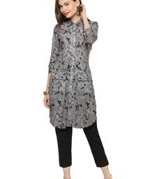 Buy Black printed rayon kurtas-and-kurtis kurtas-and-kurtis online