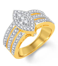 Buy Delightly Gold and Rhodium Plated Cubic Zirconia Ring wedding-ring online