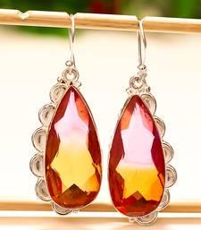"Buy Bi-color tourmaline gemstone 925 sterling silver earring 1.95"" gemstone-earring online"