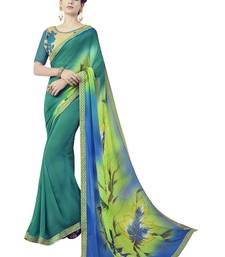 Buy Multicolor printed polyester saree with blouse other-saree online