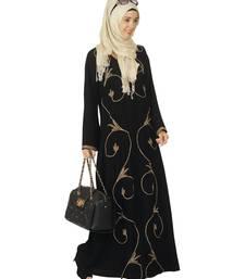 Buy Black premium polyester stitched abaya abaya online