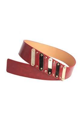 Just Women - Dressy Maroon Womens Leather Belt
