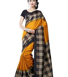 Buy orange printed art silk saree with blouse printed-saree online