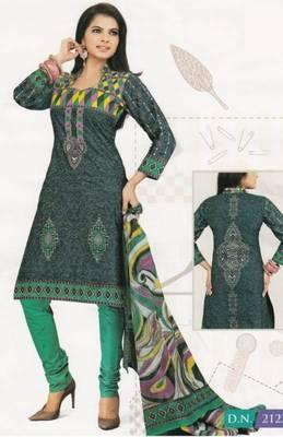 Cotton Dress Material Elegant Designer Unstitched Suit D.No 2123