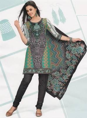 Cotton Dress Material Elegant Designer Unstitched Suit D.No 2125