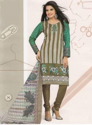 Cotton Dress Material Elegant Designer Unstitched Suit D.No 2128