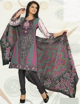Cotton Dress Material Elegant Designer Unstitched Suit D.No 2133