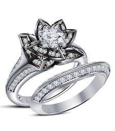 Buy Round Cut Simulated Diamonds White Platinum Plated Bridal Ring Set 925-sterling-silver-ring online