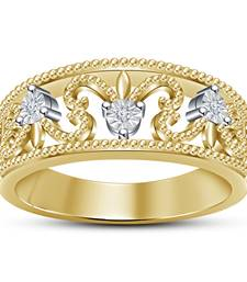 Buy 14k Gold Plated 925 Silver White Simulated Diamond Wedding Engagement Ring cubic-zirconia-cz-ring online
