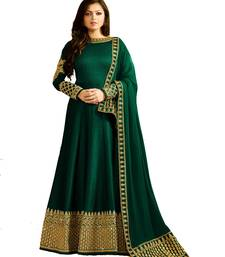 Buy Green embroidered silk salwar anarkali-salwar-kameez online