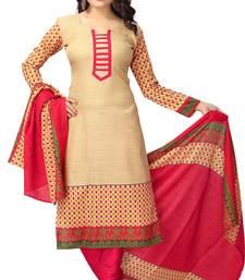 Buy Chiku floral print cotton salwar crepe-salwar-suit online