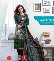 Buy Multicolor embroidered cotton salwar wedding-salwar-kameez online