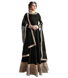 Buy Black thread embroidery bhagalpuri silk salwar bangalore-silk-salwar-kameez online