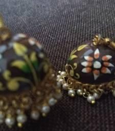 Buy Brown pearl earrings Earring online