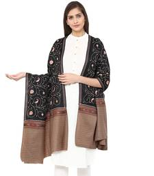 Buy Multi Wool Embroidered Pashmina shawl shawl online