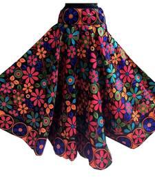 Buy Multicolor printed satin stitched lehenga floral-lehenga online