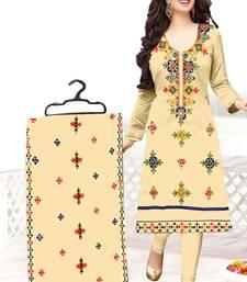 Buy Cream aari chanderi salwar chanderi-silk-salwar-suit online