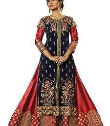 Buy Navy blue embroidered velvet salwar wedding-salwar-kameez online