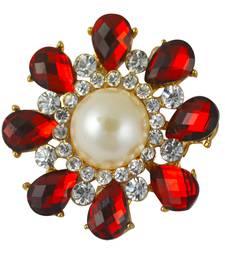 Buy Red cubic zirconia brooch brooch online