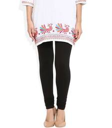 Buy Black churidaar cotton leggings legging online