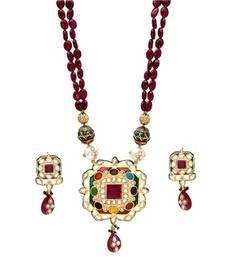Buy royal kundan ruby emerald necklace necklace-set online