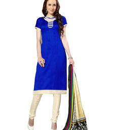 Buy Blue  bhagalpuri silk salwar salwar-kameez-below-1000 online