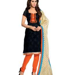 Buy Black  chanderi salwar salwar-kameez-below-1000 online