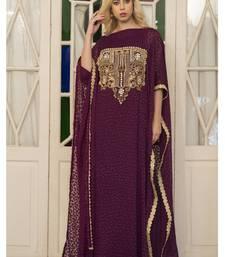 Buy Violet Arabic Style Hand Made Kaftan islamic-kaftan online