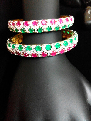 and bangles large emerald buy designers royal rich no look designs product a online bracelet ruby
